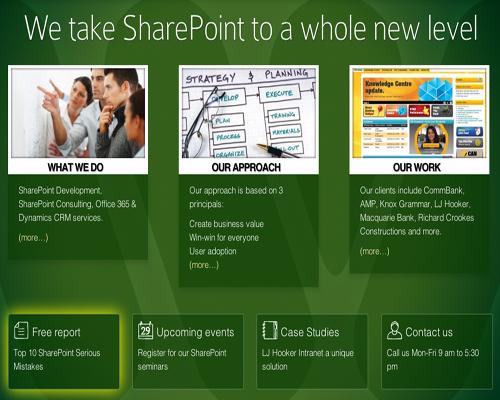 sharepoint development sydney